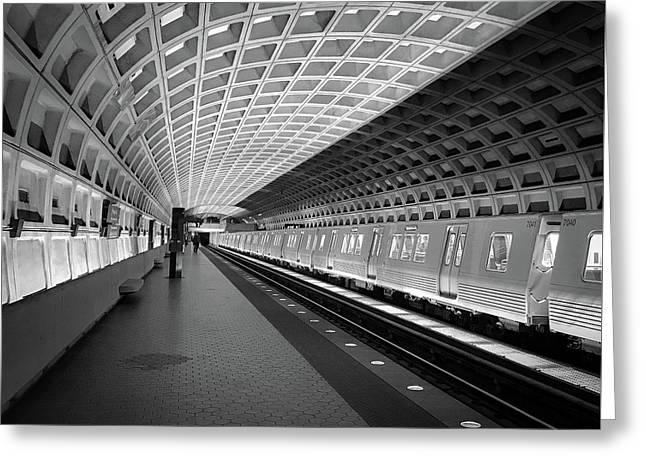 Waiting At Pentagon City Station Greeting Card