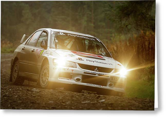 Greeting Card featuring the photograph Wales Rally Gb 2016 - 92 Tony Jardine, Gbr by Elliott Coleman