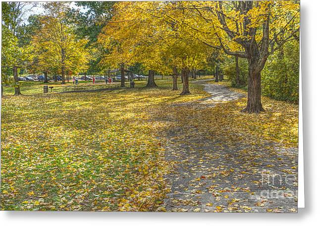 Walk In The Park @ Sharon Woods Greeting Card