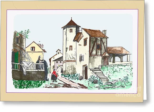 Walk Through Town Greeting Card