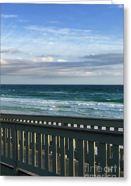 Walk With Me To The Beach Greeting Card