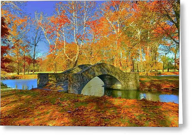 Walking Bridge Greeting Card