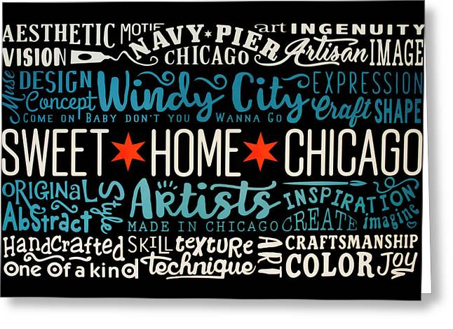 Wall Art Chicago Greeting Card