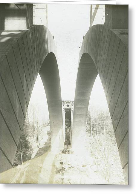 Walnut Lane Bridge Under Construction Greeting Card