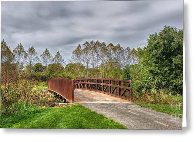 Walnut Woods Bridge - 3 Greeting Card