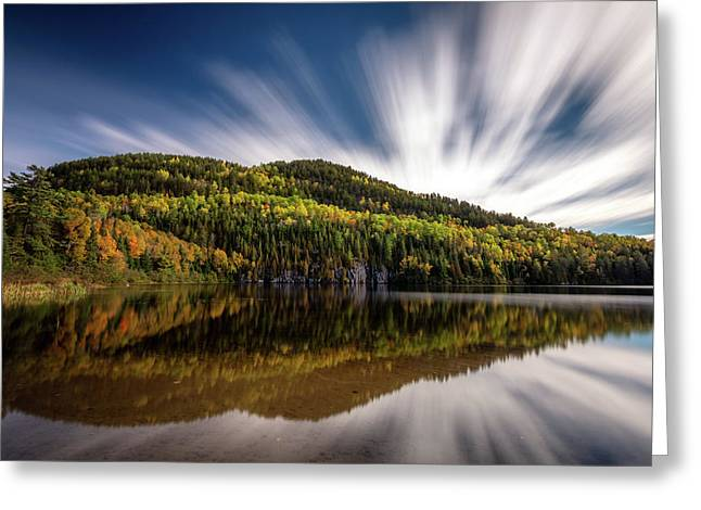 Greeting Card featuring the photograph Wapizagonke Lake Reflection by Pierre Leclerc Photography