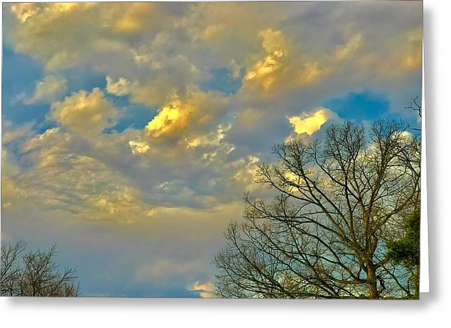 Warm And Cool Sky Greeting Card