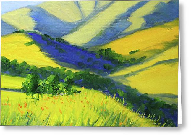 Warm Valley Landscape Greeting Card