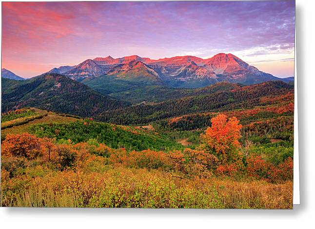 Wasatch Back Autumn Morning Greeting Card