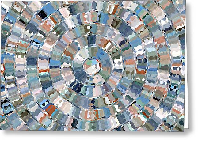 Water Mosaic Greeting Card
