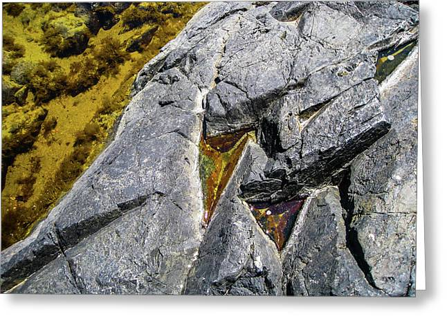 Greeting Card featuring the photograph Water On The Rocks 8 by Juan Contreras