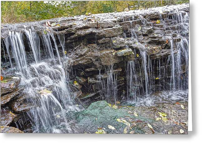 Waterfall @ Sharon Woods Greeting Card