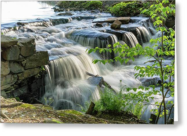 Waterfall At The Old Mill  Greeting Card