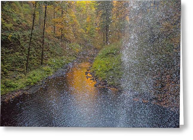 Waterfall Waterdrops Greeting Card