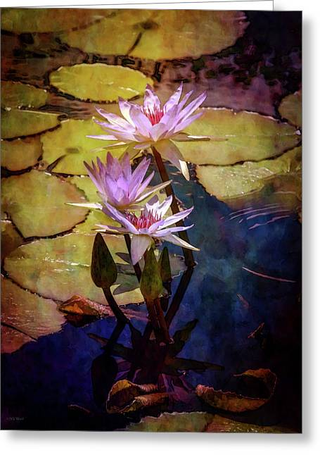 Waterlily Bouquet 2922 Idp_6 Greeting Card