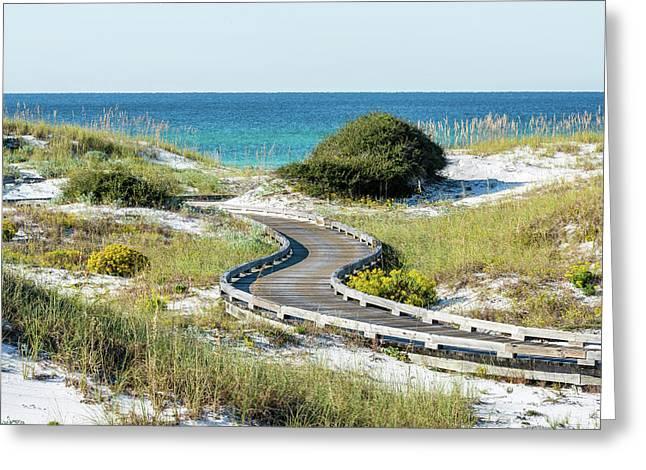 Watersound Beach Dune Boardwalk Greeting Card