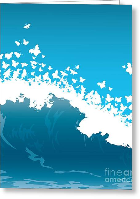 Wave Illustration Greeting Card by Mire