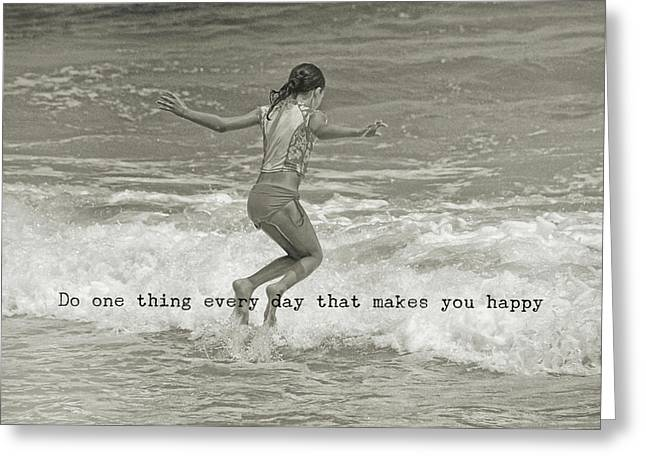 Wave Jump Quote Greeting Card by JAMART Photography