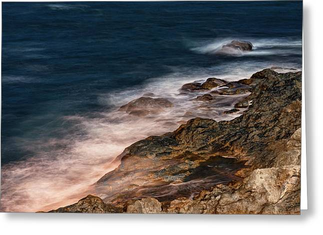 Greeting Card featuring the photograph Waves And Rocks At Sozopol Town by Milan Ljubisavljevic