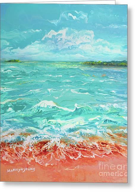 Waves At Sombrero Beach Greeting Card