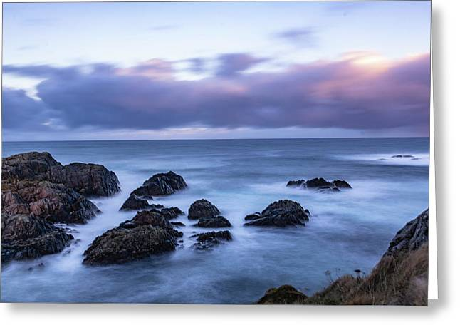 Waves At The Shore In Vesteralen Recreation Area Greeting Card