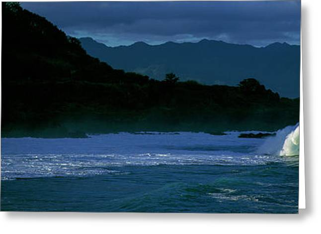 Waves In The Pacific Ocean, Waimea Bay Greeting Card