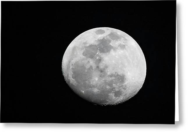 Waxing Gibbous Greeting Card