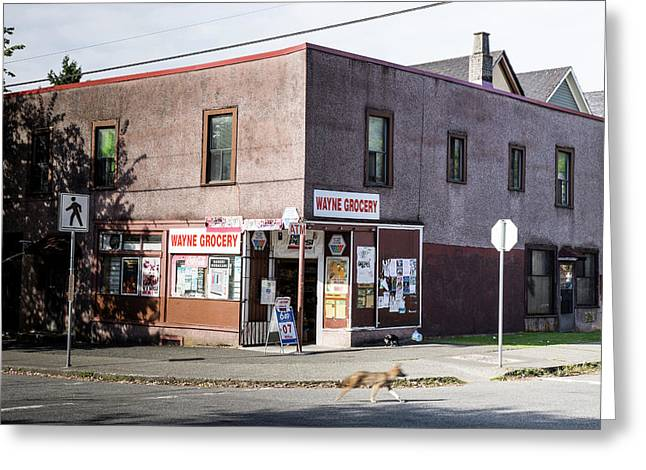 Greeting Card featuring the photograph Wayne Grocery by Juan Contreras