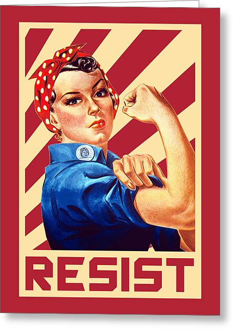 We Can Do It Rosie Resist Greeting Card