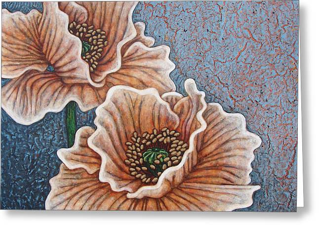 Greeting Card featuring the painting Weathered Splendor by Amy E Fraser