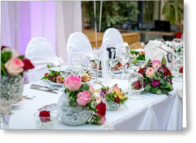 Wedding Table Greeting Card