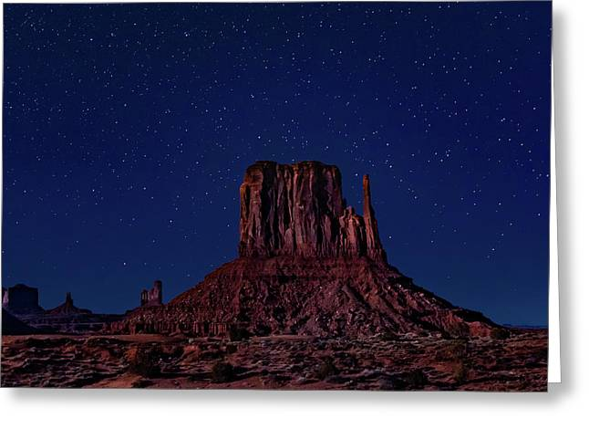 West Mitten Under The Night Sky Greeting Card