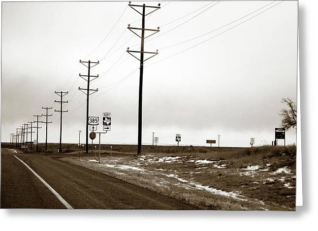 West Texas Highway Greeting Card
