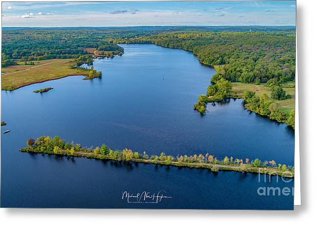 Greeting Card featuring the photograph West Thompson Lake by Michael Hughes