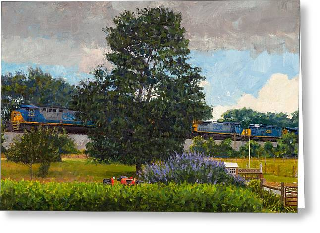 Westbound Freight, Crozet Greeting Card