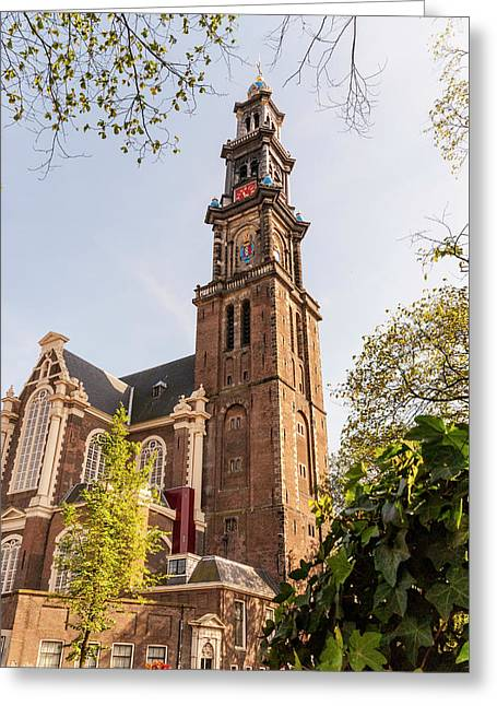 Westerkerk In Amsterdam Greeting Card