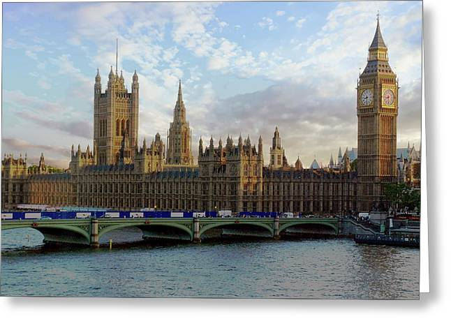 Greeting Card featuring the photograph Westminster Palace by Anthony Dezenzio
