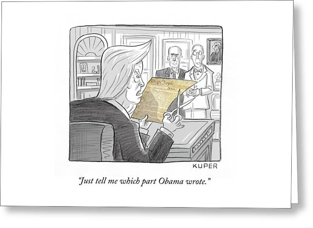 What Obama Wrote Greeting Card
