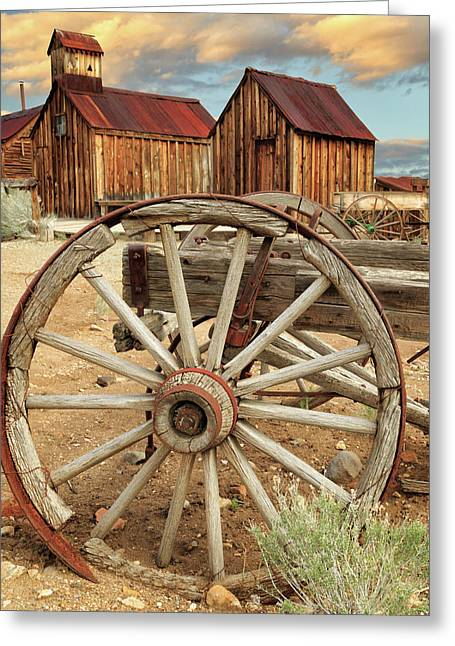 Wheels And Spokes In Color Greeting Card