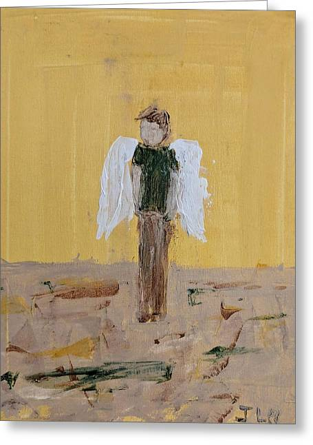 Whistling Angel Greeting Card