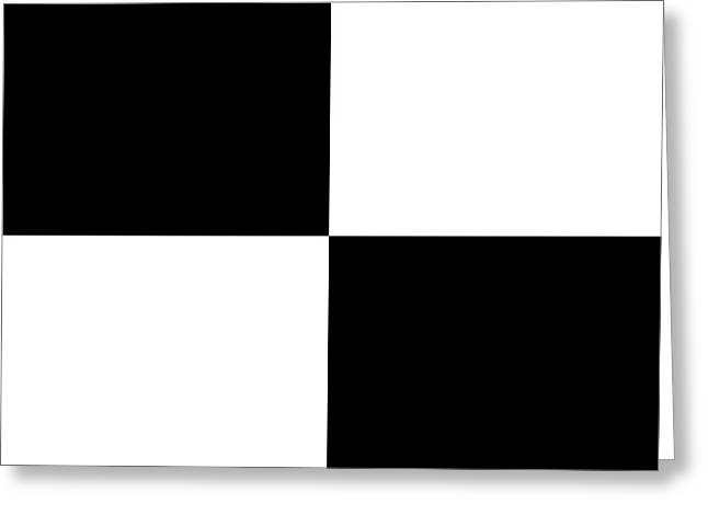 White And Black Squares - Ddh586 Greeting Card