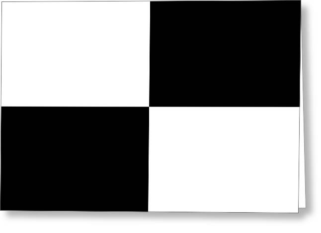 White And Black Squares - Ddh588 Greeting Card