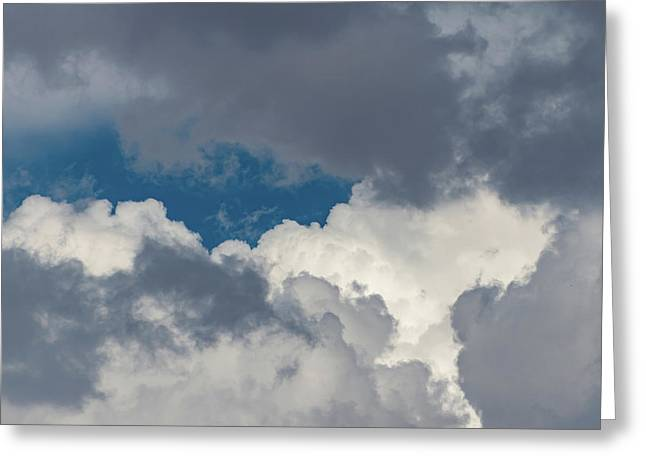 White And Gray Clouds Greeting Card