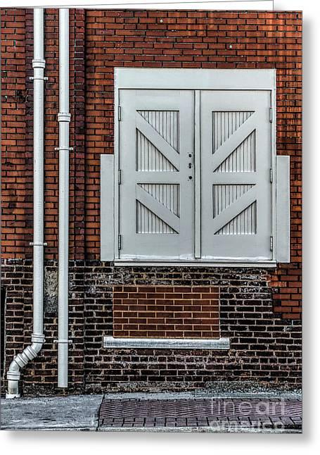 White Doors Greeting Card by Elijah Knight