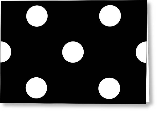 White Dots On A Black Background- Ddh612 Greeting Card