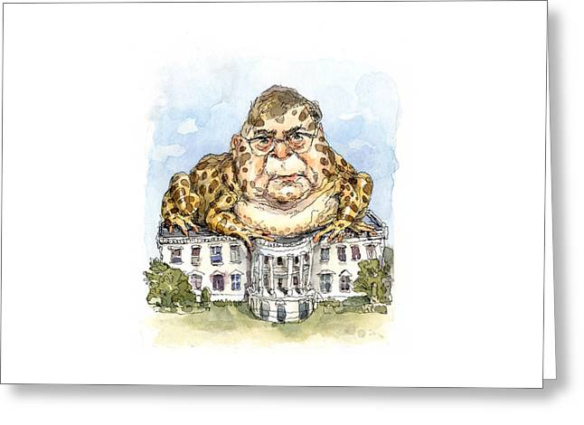 White House Toady Greeting Card