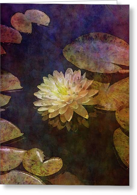 White Lotus Lily Pond 2938 Idp_2 Greeting Card