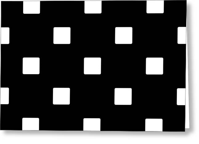 White Squares On A Black Background- Ddh576 Greeting Card