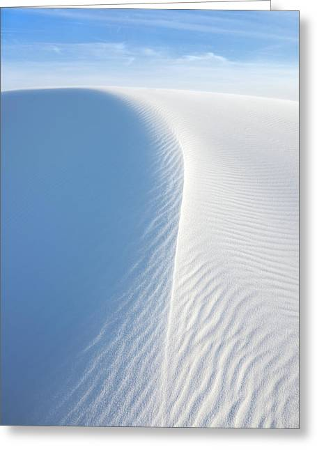 White Wave Greeting Card