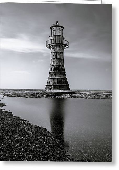 Whiteford Point Lighthouse Reflections Greeting Card